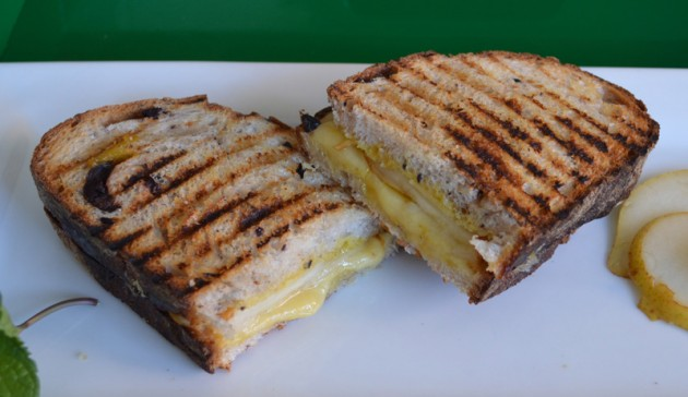 Pear Cheese Olive Sandwich