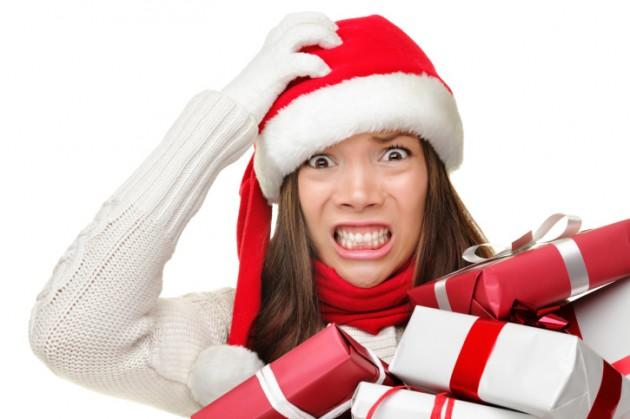 Busy Santa Woman