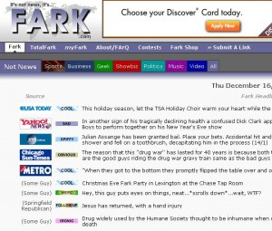 Screenshot of Fark.com
