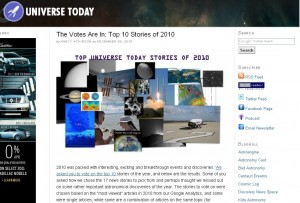 Screenshot of UniverseToday.com