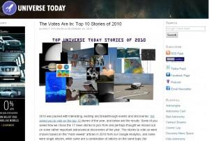 Screenshot of UniverseToday.com
