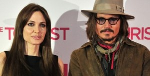 Actors Angelina Jolie and Johnny Depp