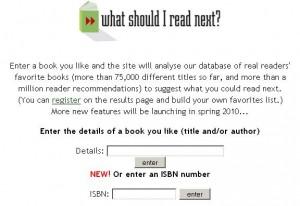 Screenshot of WhatShouldIReadNext.com