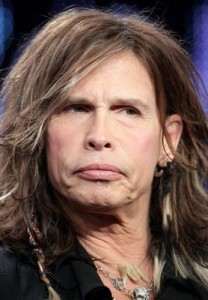 A suggestive Steven Tyler gets a slap on the wrist for naughty talk!