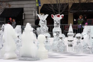 Icy chess pieces showcase Grand Rapids in new Ice Brigade reality show!