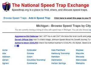Screenshot of Speedtrap.org