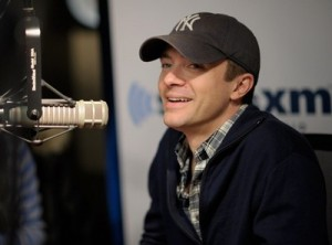 Topher Grace has a tender moment in Ryan Seacrest's studio!
