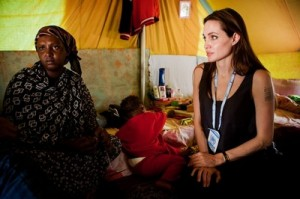 UNHCR Goodwill Ambassador Angelina Jolie Visits Somali Refugees In Tunisia