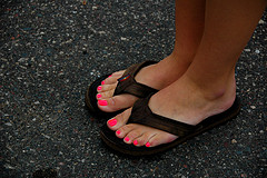 Office dress codes frown upon flip flops!