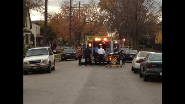 Paramedics responding to victim of shooting, Dickinson St. and Lafayette Ave. SE.