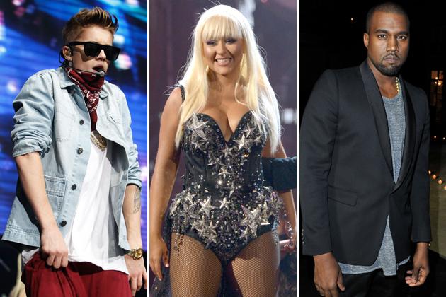 Justin Bieber Christina Aguilera Kanye West psychic