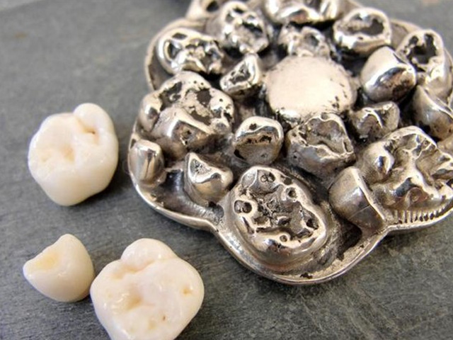 Baby teeth necklace