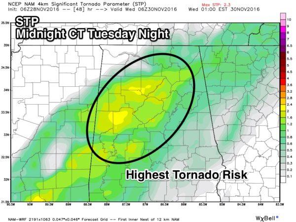ABC 33/40 Weather via James Spann/ The Alabama Weather Blog