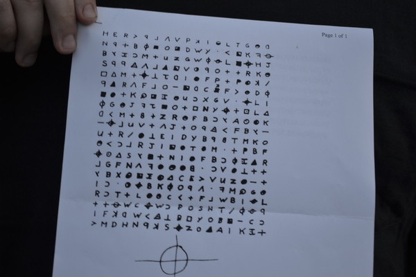 zodiac original coded message