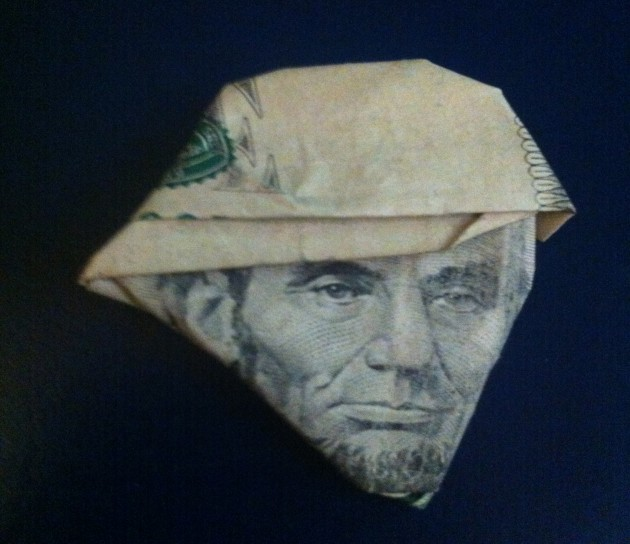 5 dollar bill hat