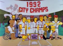 Simpsons Softball