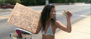 Panhandling for Boobs