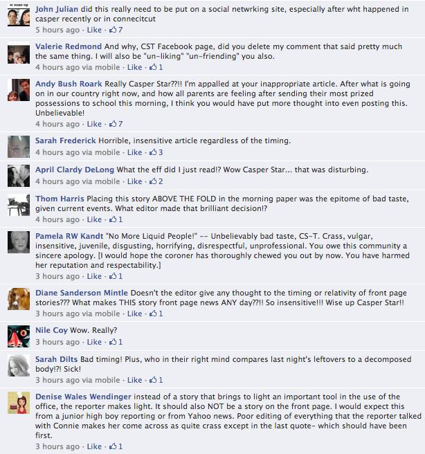 Casper Star Tribune Facebook Comments