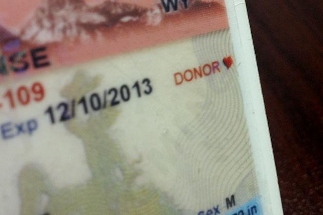 Wyoming Organ Donor Designation