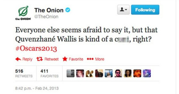 The Onion's Deleted Tweet