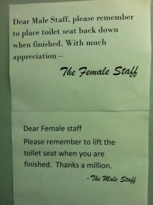 Toilet Seat Note