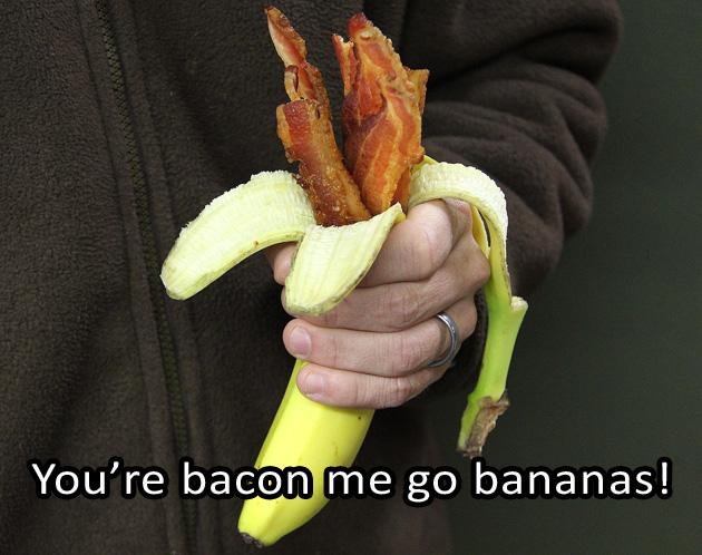 Bacon Banana Caption Winner
