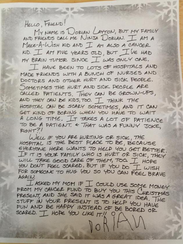 Ninja Dorian's Christmas Note