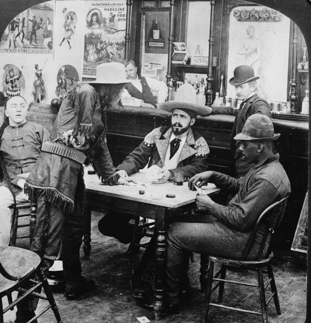 Barroom Dispute In The Old Days