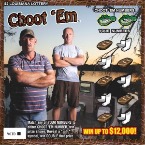 Choot 'em Louisiana Lottery Scratch Ticket