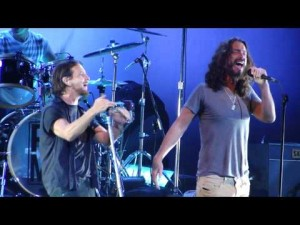 Chris Cornell and Eddie Vedder