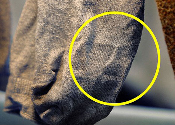 Jesus's face on a sock
