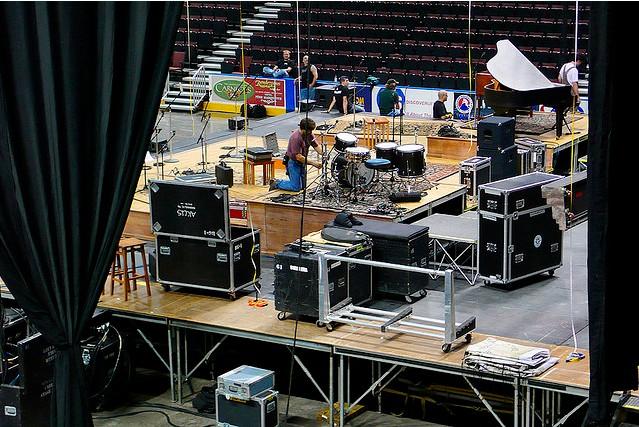 concert set up