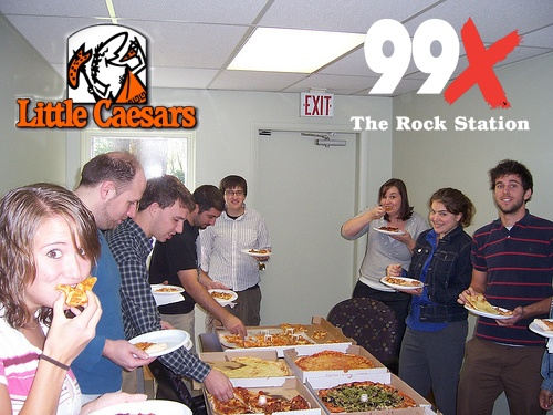 99X/Little Caesar's Office Invasion