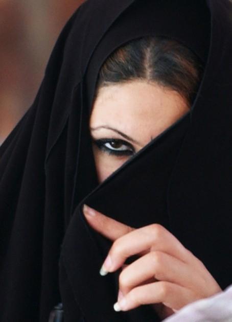 woman in burka