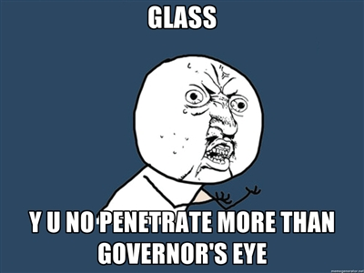 walking dead governor eye memes