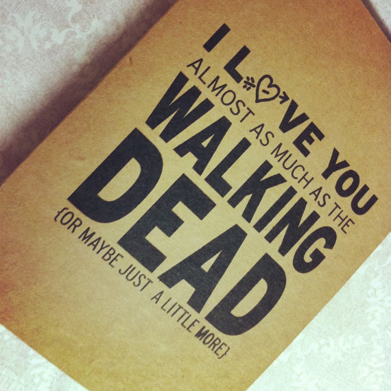 walking dead valentines day cards