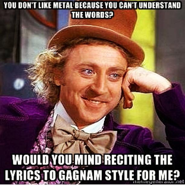 gangnam style metal