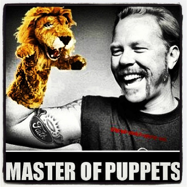 master of puppets james hetfield