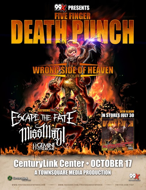 five finger death punch 99x poster