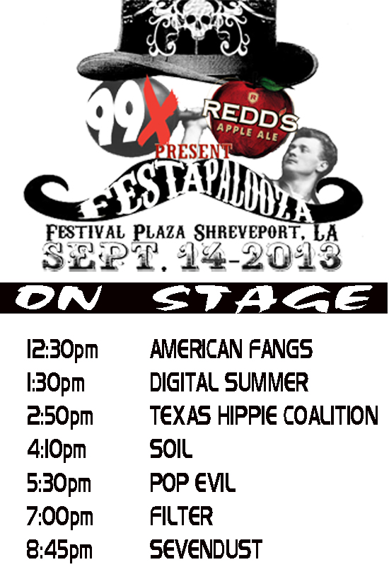 Festapalooza Band Set Times