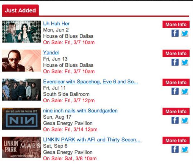 NIN-Soundgarden Tour Info