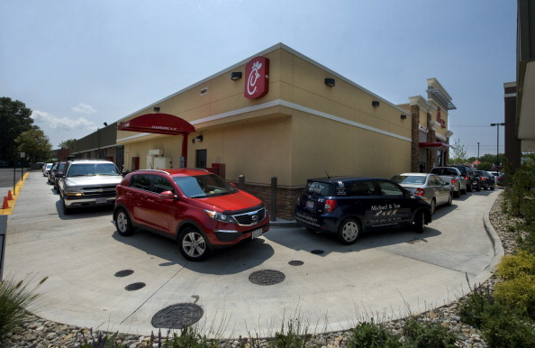 Customers Show Support For Chick-Fil-A In Springfield, VA