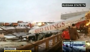 Plane crash in Moscow