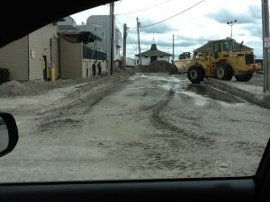 Sand Covered Streets in Margate After Sandy