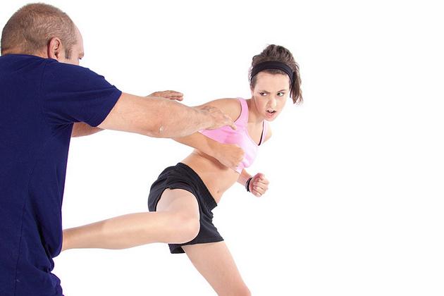 Woman Karate Kick