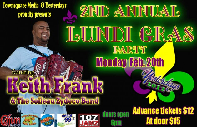 Keith Frank Lundi Gras Party