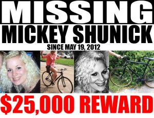 Mickey Shunick reward poster
