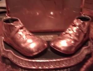 bronzing sports items, baseball gloves, balls, cleats, sneakers, ballet