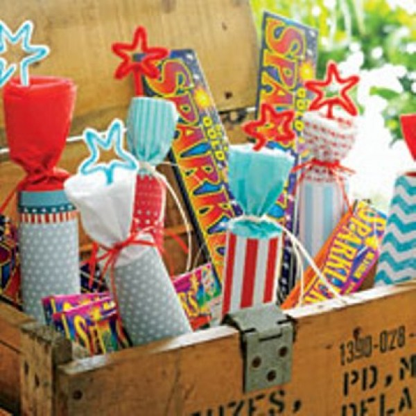 Spark up your 4th of july picnic table with faux for 4 of july decorations