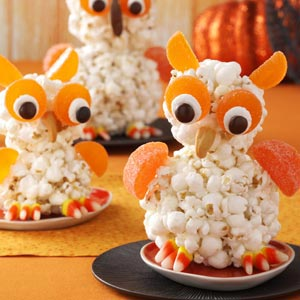 Taste of home popcorn owls make your halloween party a hoot - Quince recipes for babies a healthy fall ...